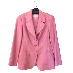 Pink Silk Cashmere Escada 3 Button Blazer Jacket